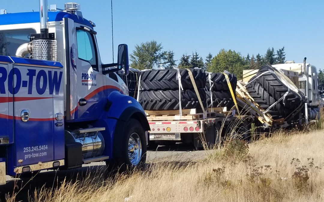 Semi Truck Loses Load Of Tires