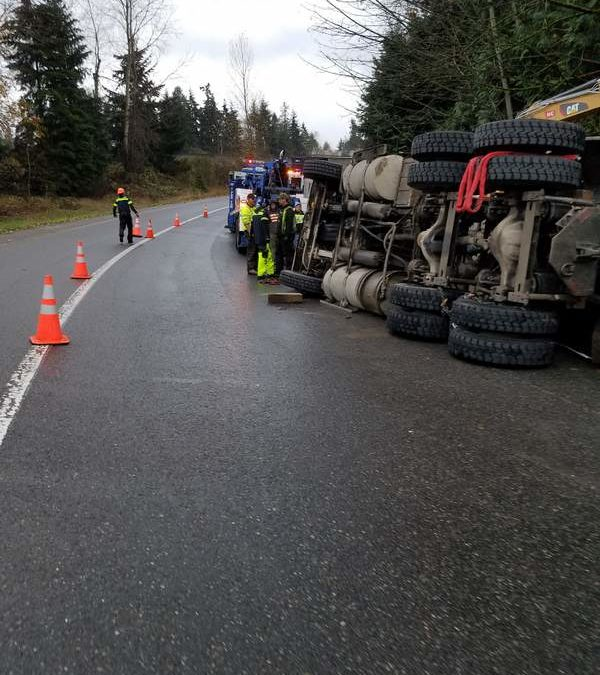 Overturned End Dump In Kirkland, WA