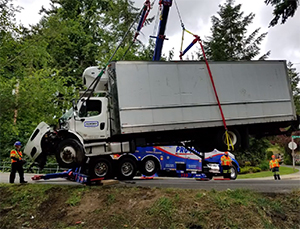 Catch of the Day: An Overturned Box Truck