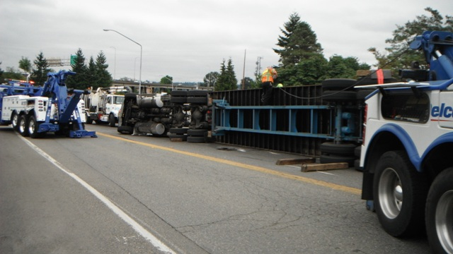 Tip Over in Auburn, WA Truck Recovery