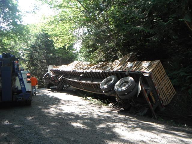 Flatbed Semi Truck Recovery Tacoma, WA Watershed