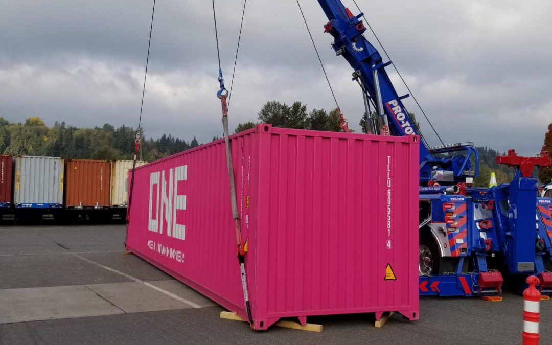Pro-Tow Called to Load Shipping Container