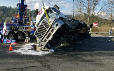 Shipping Container Towing Overturned in Auburn, WA