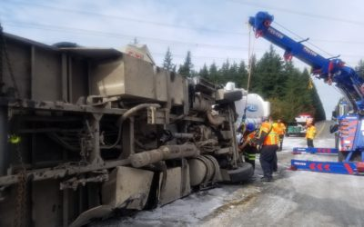Spill And Slide On Highway 18 At Tiger Mountain