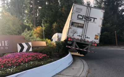 Riding The Roundabout – Narrowly Missing A Semi-Truck Accident Turnover