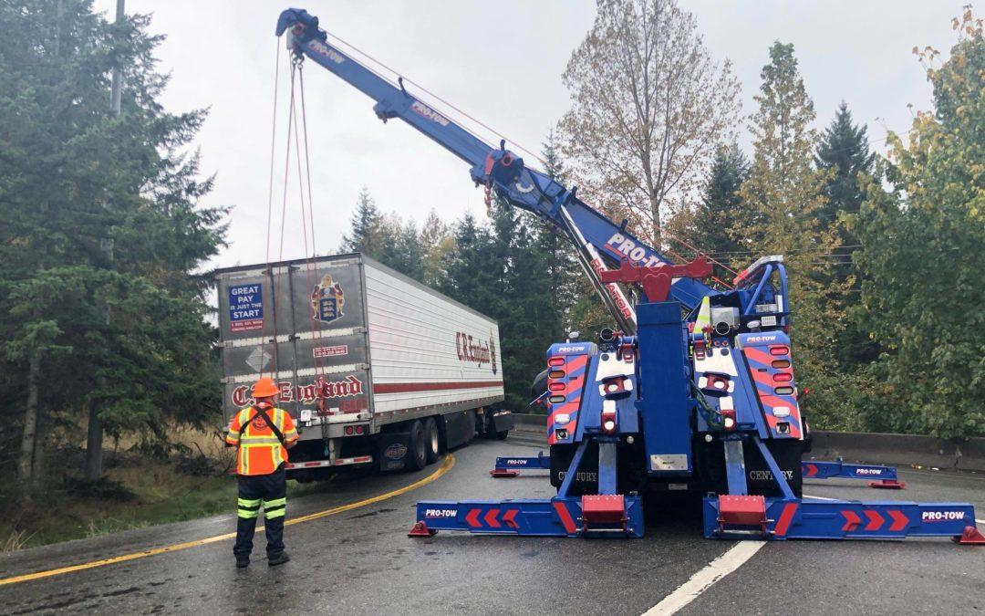 Just Need A Lift Semi-Truck Accident Near Snoqualmie