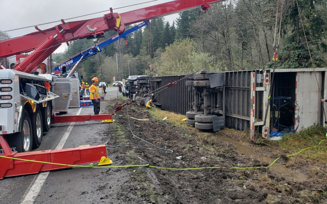 Truck Accident Recovery on Tiger Mountain Summit
