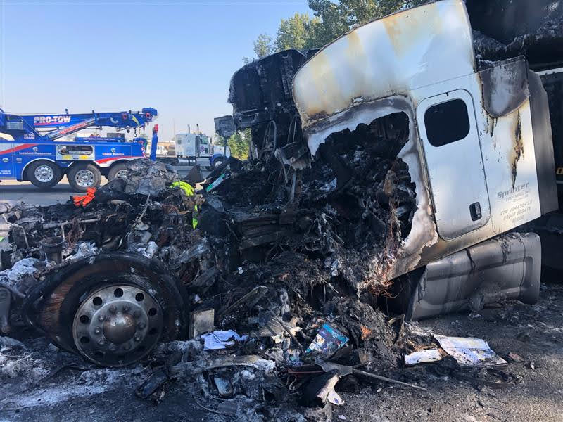 Holy Smoked – Burnt Out Truck Accident Recovery
