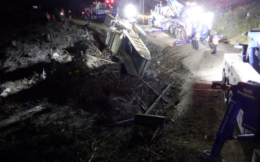 The Grinder: Logging Road Truck Accident Recovery
