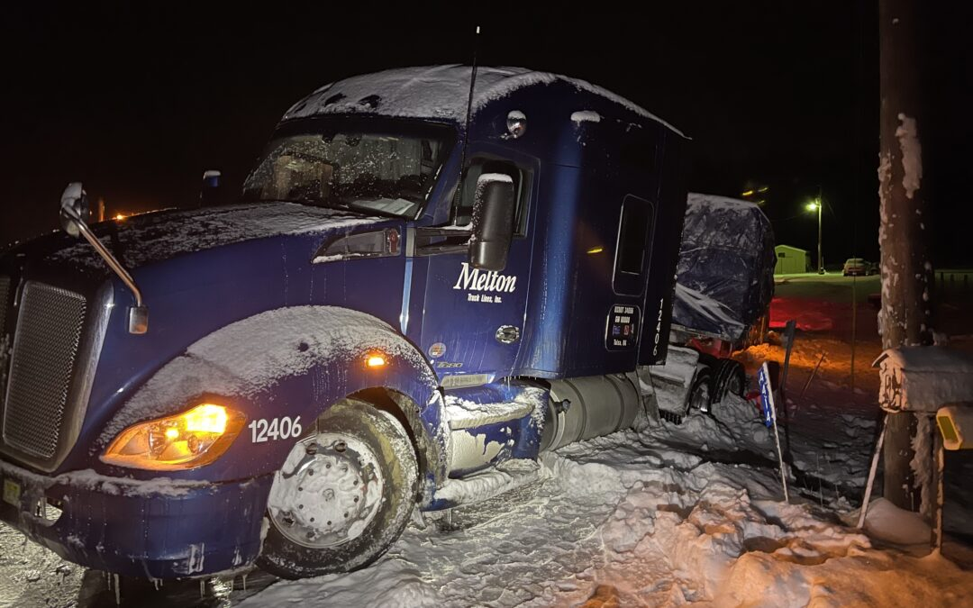Truck Recovery from a Snowy Ditch